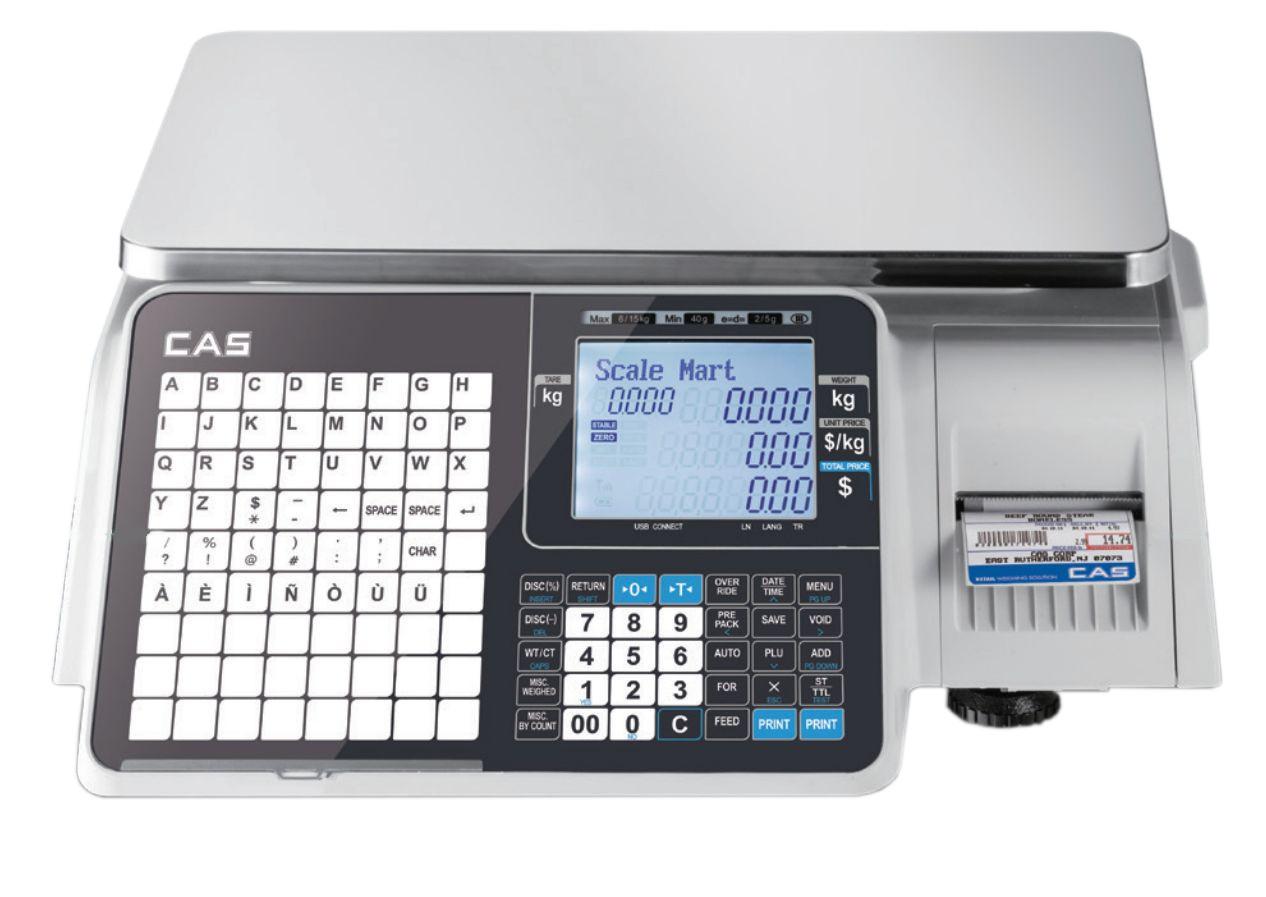 Торговые CAS CL3000J-B с печатью этикеток