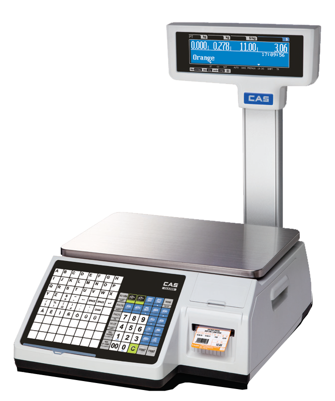 Торговые с печатью этикеток CAS CL3000P